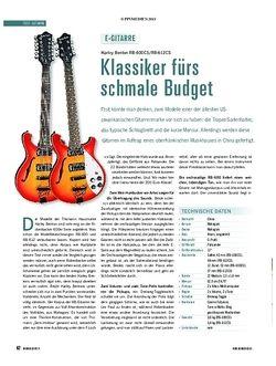 Soundcheck Test Gitarre: Harley Benton RB-600CS/RB-612CS