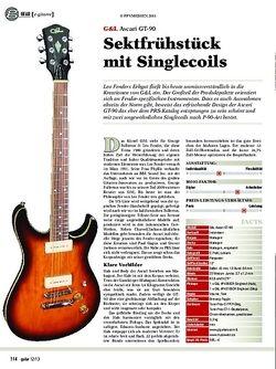 Guitar gear e-gitarre: G&L Ascari GT-90