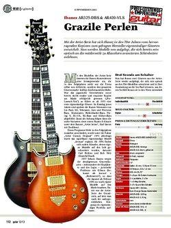 Guitar gear e-gitarre: Ibanez AR325-DBS & AR420-VLS