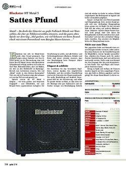 Guitar gear gitarren-amp: Blackstar HT Metal 5