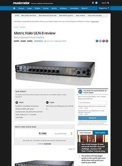 MusicRadar.com Metric Halo ULN-8