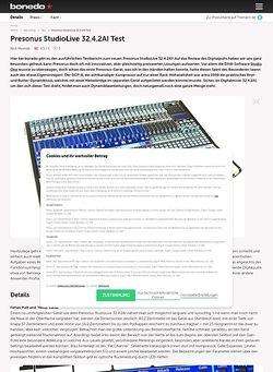 Bonedo.de Presonus StudioLive 32.4.2AI Test