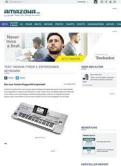 Amazona.de Test: Yamaha Tyros 5, Entertainer-Keyboard