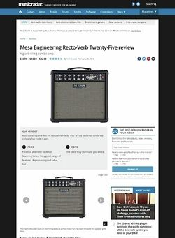 MusicRadar.com Mesa Engineering Recto-Verb Twenty-Five