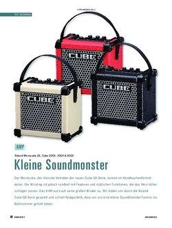 Soundcheck Roland Microcube GX, Cube 20 GX, 40 GX & 80 GX