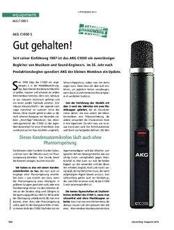 Recording Magazin AKG C1000S