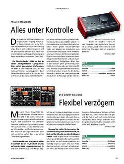 Recording Magazin Kurztests: Palmer Monicon, D16 Group Sigmund
