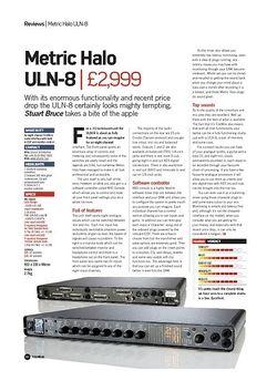 Future Music Metric Halo ULN-8