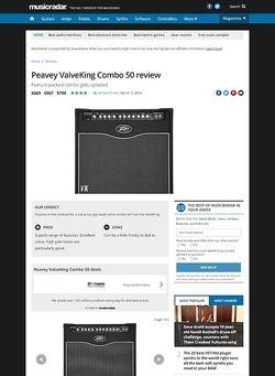 MusicRadar.com Peavey ValveKing Combo 50
