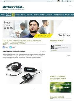 Amazona.de Top News: Native Instruments Traktor Audio 2, Audiointerface
