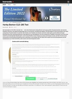 Bonedo.de Harley Benton CLD-28S Test