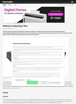 Bonedo.de Elektron Analog Keys