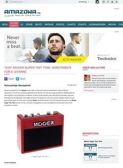 Amazona.de Test: Mooer Super Tiny Twin, Verstärker für E-Gitarre