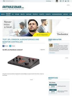 Amazona.de Test: SPL Crimson, USB-Audiointerface und Monitor-Controller