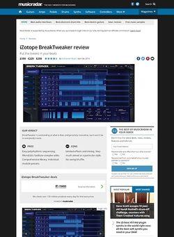 MusicRadar.com iZotope BreakTweaker