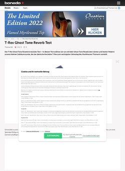 Bonedo.de T-Rex Ghost Tone Reverb