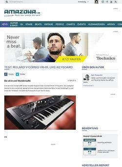 Amazona.de Test: Roland V-Combo VR-09, Live-Keyboard