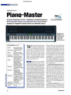 Tastenwelt Test: Yamaha CP300 - Piano-Master
