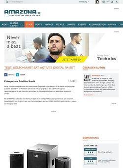 Amazona.de Test: Solton AART Sat, aktives Digital PA-Set