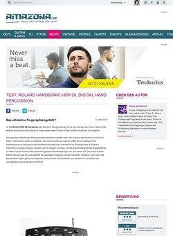 Amazona.de Test: Roland Handsonic HDP-20, Digital Hand Percussion