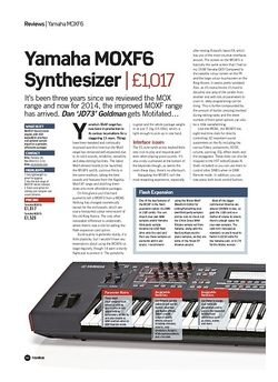 Future Music Yamaha MOXF6