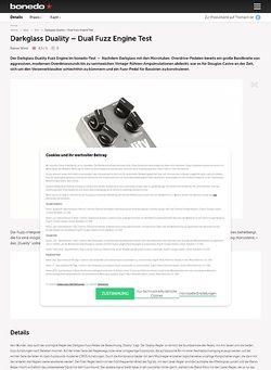 Bonedo.de Darkglass Duality - Dual Fuzz Engine