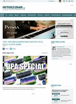 Amazona.de Special: DPA d:dicate 4011C, d:dicate 2011C, d:vote 4099D, Schlagzeug Mikrofone