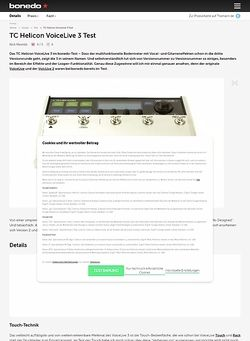 Bonedo.de TC Helicon VoiceLive 3 Test