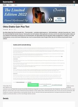 Bonedo.de Okko Diablo Gain Plus Test