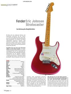Guitar Test: Fender Eric Johnson Signature Stratocaster