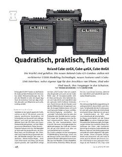 Gitarre & Bass Roland Cube 20GX, 40GX, 80GX, Gitarren-Combos