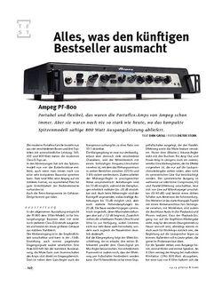 Gitarre & Bass Ampeg PF-800, Bass-Head