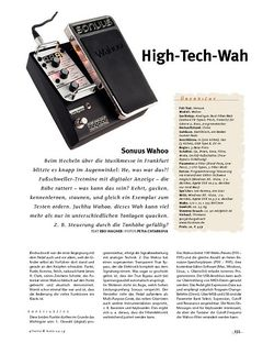 Gitarre & Bass Sonuus Wahoo, Wah-Pedal