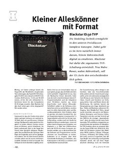 Gitarre & Bass Blackstar  ID:30 TVP, Modeling-Amp