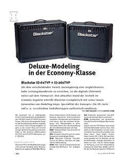 Gitarre & Bass Blackstar ID:60TVP + ID:260TVP, Modeling-Amps