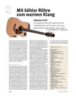 Gitarre & Bass Takamine  P7DC, A-Gitarre