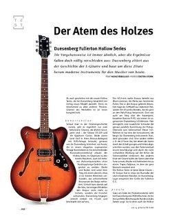 Gitarre & Bass Duesenberg  Fullerton Hollow Series, E-Gitarre
