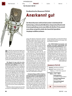 Keys Test: Neumann TLM 49