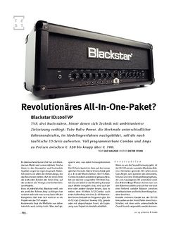 Gitarre & Bass Blackstar  ID:100TVP, Modeling-Head