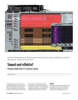 Sound & Recording Presonus Studio One 2.5 - Sequenzer-Update
