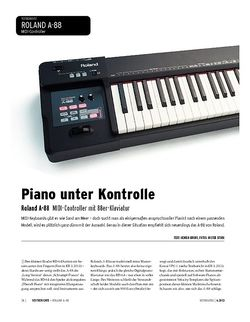 Keyboards Roland A-88 - Controller-Keyboard mit Pianotastatur