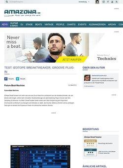 Amazona.de Test: iZotope BreakTweaker, Groove Plug-in