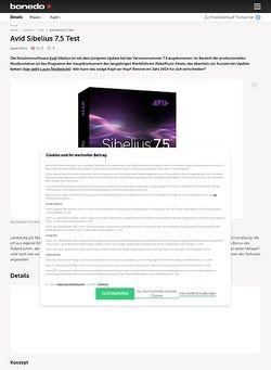 Bonedo.de Avid Sibelius 7.5