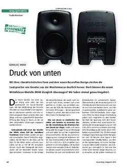 Recording Magazin Genelec M040
