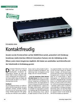 Recording Magazin Steinberg UR44