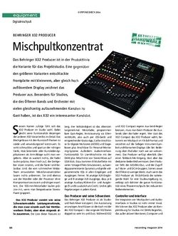 Recording Magazin Behringer X32 Producer