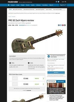 MusicRadar.com PRS SE Zach Myers