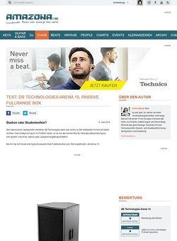 Amazona.de Test: dB Technologies Arena 15, passive Fullrange Box