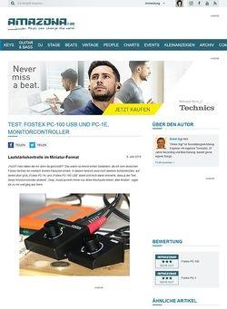 Amazona.de Test: Fostex PC-100 USB und  PC-1e, Monitorcontroller