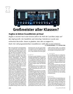 Gitarre & Bass Hughes & Kettner GrandMeister 36, Tube-Head